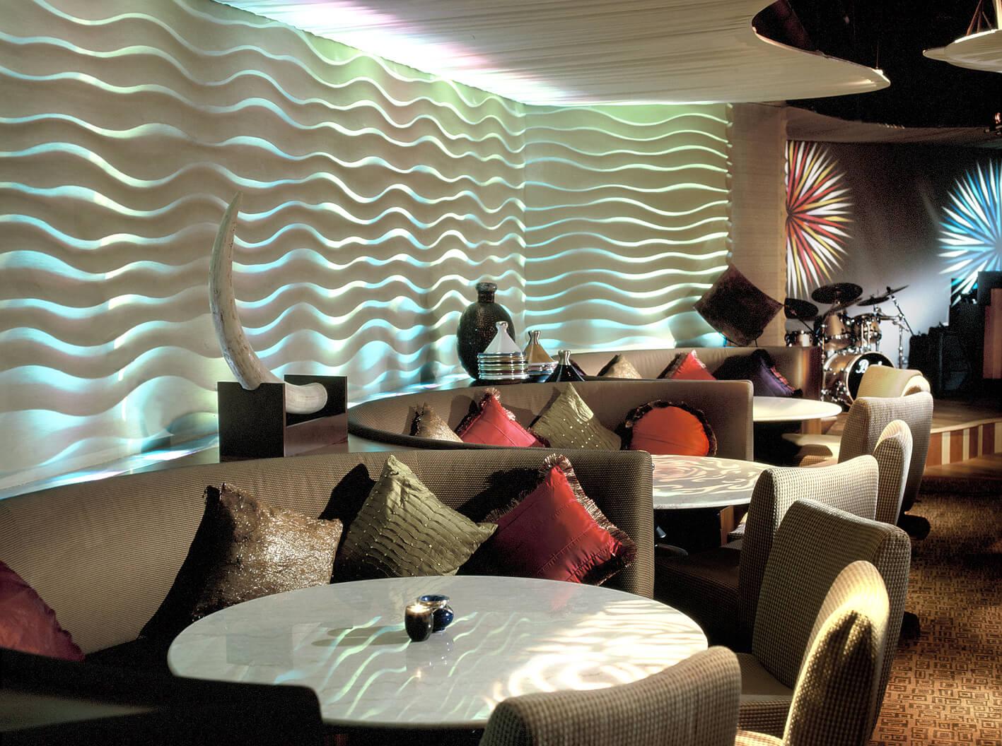 Live music lounge interiors commercial design portfolio interiorsense