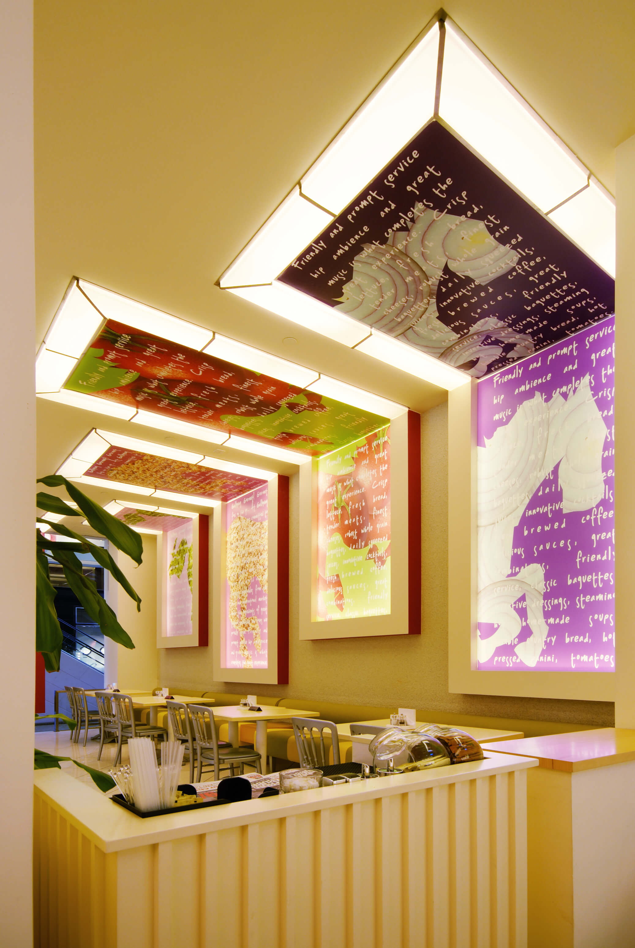 Gourmet salad and sandwich cafe interiors interiorsense