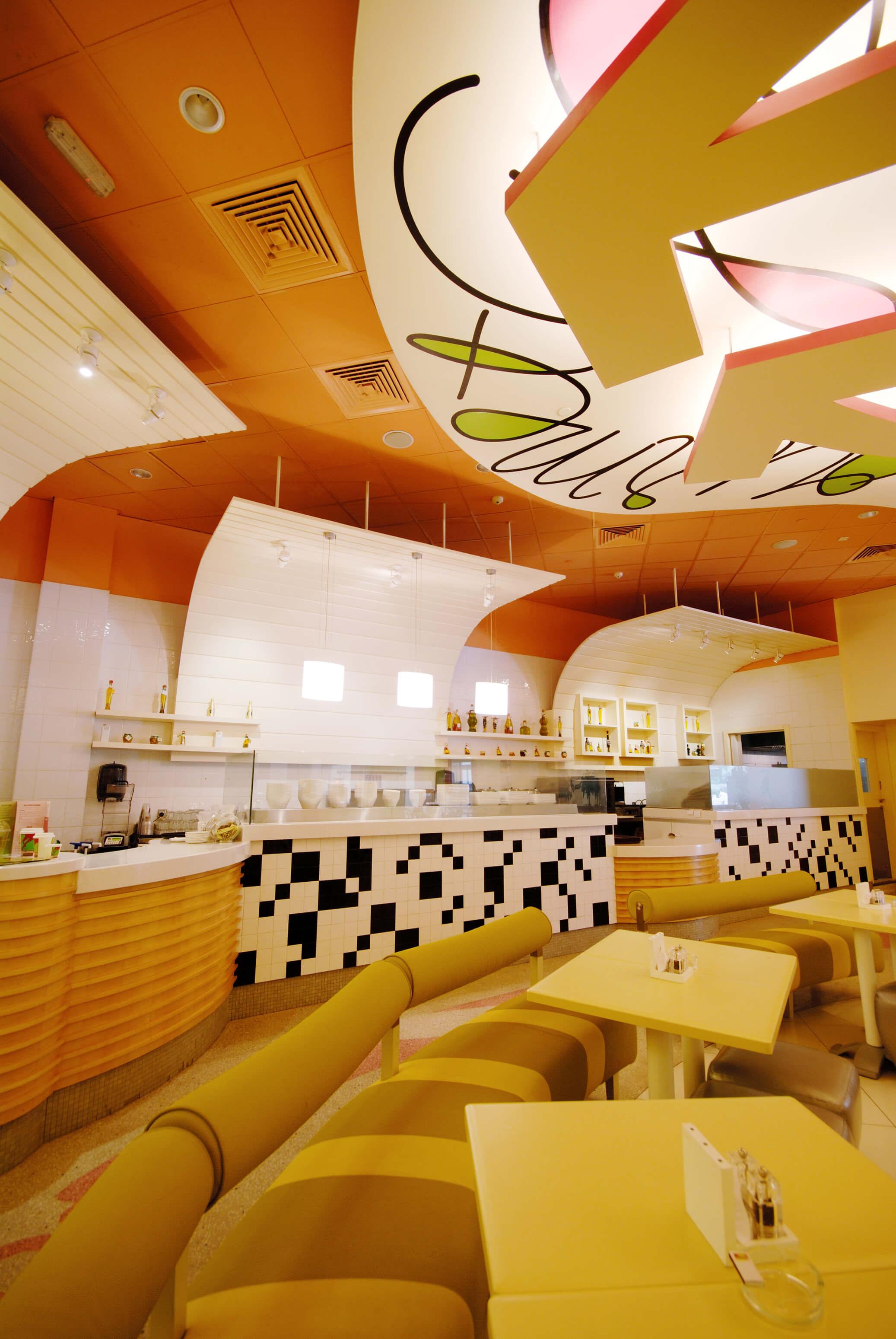Gourmet Salad And Sandwich Cafe Interiors Interiorsense